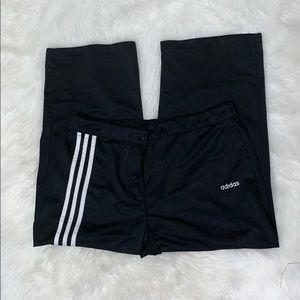 adidas black capri pants